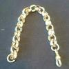 Men's 9ct hall marked belcher bracelet big chunky