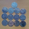 Mix 50p coins 25 in total