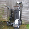 left hand golf clubs bag and trolly