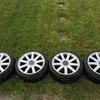 "VAG audi tt 18"" alloys, good tread, bit scuffed multi fit 5x100 5x112"