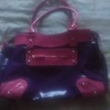 Purple and pink Bag with front zip and inside zip