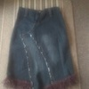 Blue denim tassle skirt size 8