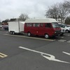 Motorhome with trailer