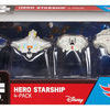 STAR WARS HOT WHEELS HERO STARSHIP DIE-CAST VEHICLES 4 PACK