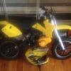 Kids 49cc mini Moto dirt bike with matching helmet needs tlc
