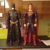 80cm batman and superman figures