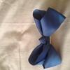 Girls blue hair bow