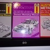 collection of haynes car repair manuals