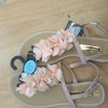 Nude flower sandals size 6