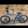 "20"" bmx X RATED blue"