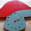 Vintage Wooden Toadstool Clock