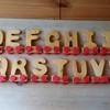 Wooden Alphabet Letters on Wheels