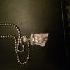 9 carat white gold Jesus pendant