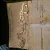 Big 9 carat white gold byzentine