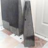 3 black polished shaped stones