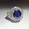 5 .90 carat sapphire 4 cart diamond
