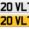 Valeting number plate P20 VLT