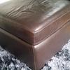 leather storage pouffe stall