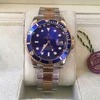 Mans rolex Blue face box papers etc