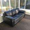 Black 3 seater leather sofa