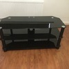 Large black glass t.v stand