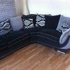 black sliver corner sofa