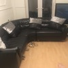 Black leather corner sofa for swap