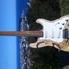 one off customised guitars pair