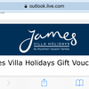 £600 James villas gift voucher