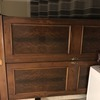 Bedroom cupboard dark wood
