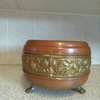 Copper and brass pot