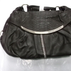 LADIES BLACK LEATHER HAND BAG