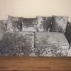 3 seater crushed velvet