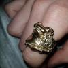 9ct gold saddle ring 31g