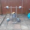 Weights, bench, bar n dumbells