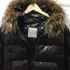 Moncler chocolate jacket  fur hood