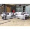 Brand newcrushed velvet corner sofa