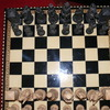Large Medieval chess set and board
