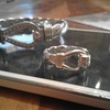 Silver gucci bangle and ring