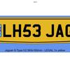 Jaguar private registration plates