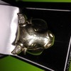 9ct gold mens bull ring with