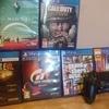 PS4 pro white, 2 contrls psvr games
