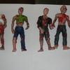 6 x 4 inch  zombie figures