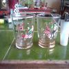 A pair of 1950s glass tumblers