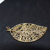 24ct gold plated leaf pendant