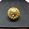 large gold plated ball pendant