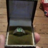 Silver and emerald ring from 1920s