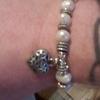 silver 925 Pearl beaded bracelet