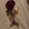 9k  gold Rose brooch from the 1960s