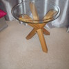 JOHN LEWIS GLASS/WOOD SMALL TABLE